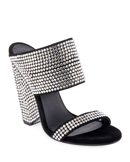 621fbc073273 Balmain Lory Crystal-Embellished Sandals