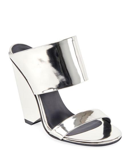 Balmain Lory Metallic Slide Sandals