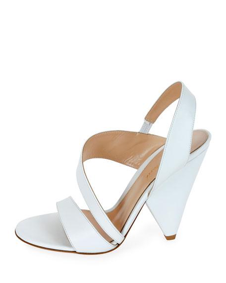 Asymmetric Leather Sandals