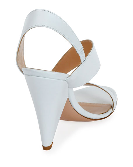 Asymmetric Leather Sandals