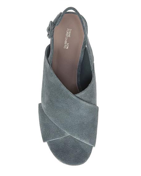 Juno Suede Platform Wedge Sandals