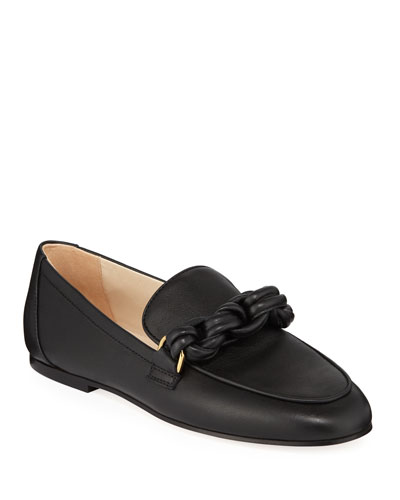 Calf Leather Chain Loafers