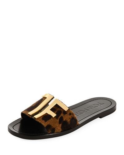 TF Pony Slide Flat Sandals