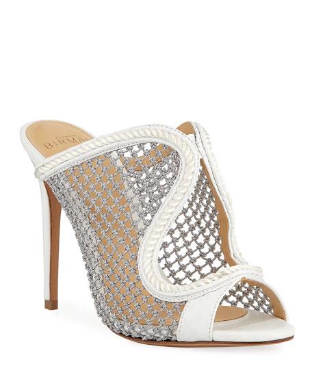 Alexandre Birman Amanda Metallic Woven Mule Sandals