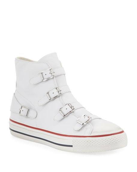 Ash Virgin Buckle High-Top Leather Sneakers