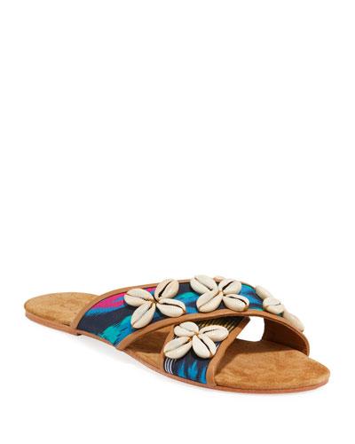 Nilu Cowrie Shell Flat Sandals