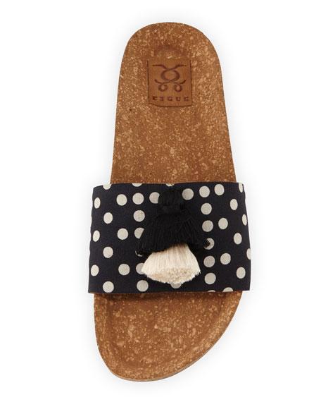Noona Tasseled Cork Slide Sandals