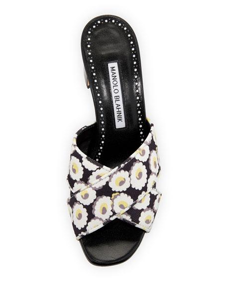 Otawi Floral Crisscross Slide Samdals