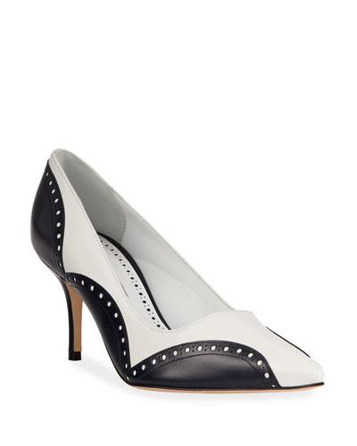 f2e1a301c54a Minisialo Two-Tone Pumps Quick Look. Manolo Blahnik