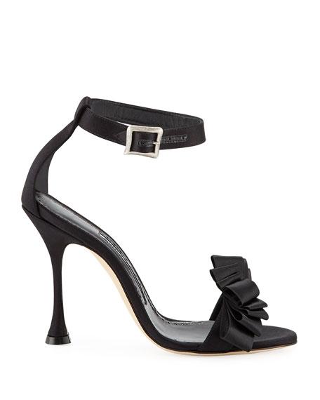 Vinka Chaos 105mm Ruched Ribbon Sandals