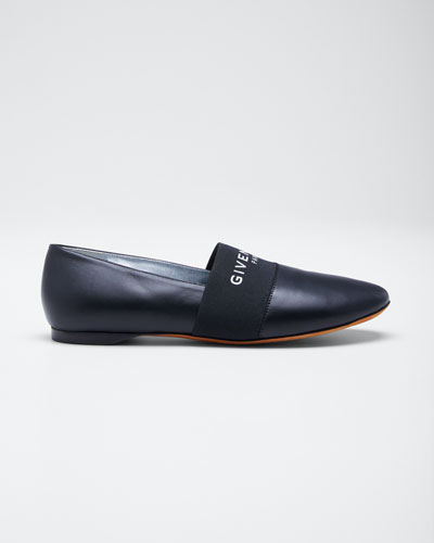 Bedford Leather Slipper Flats