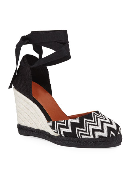 Image 1 of 1: x Missoni Carina 95mm Knit Platform Espadrilles
