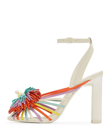 Ilma Colorblock Fringe Sandals