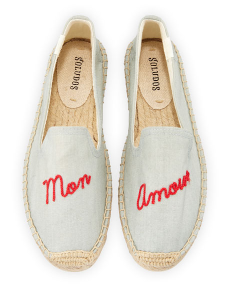 Soludos MON AMOUR ESPADRILLE SMOKING SLIPPERS