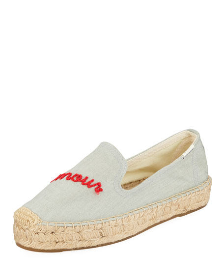 Mon Amour Espadrille Smoking Slippers