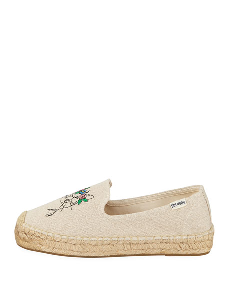 Spirit Animal Espadrille Smoking Slippers
