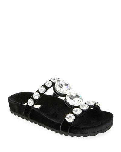 532c6015852 Jeweled Velvet Platform Sandals