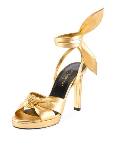 Hall Metallic Bow Sandals
