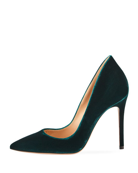 Ellipsis Velvet High-Collar 105mm Pump