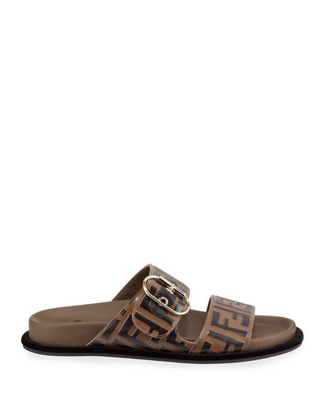 cab317e4 Leather FF Slide Sandals