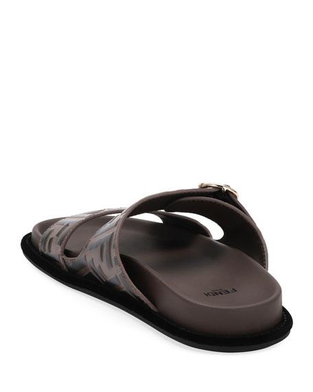 Leather FF Slide Sandals