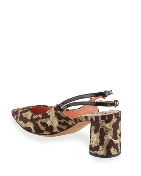 Cheetah Brocade Pointed Pumps