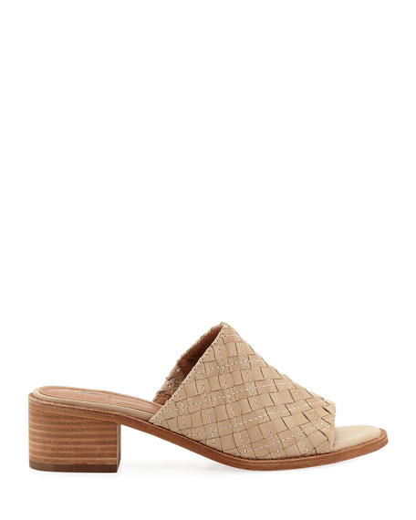 Cindy Woven Leather Mule Sandals