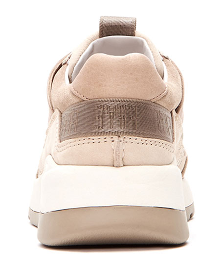Willow Low Lace-Up Leather/Suede Running Sneakers