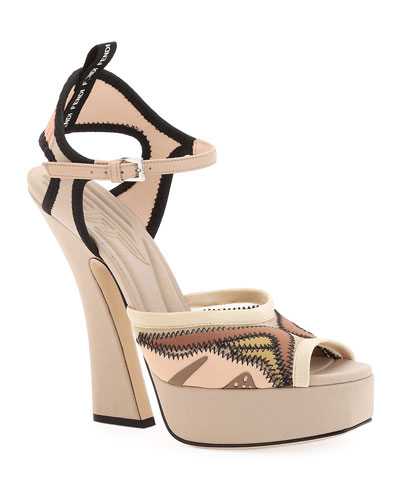Freedom Platform Stretch Sandals