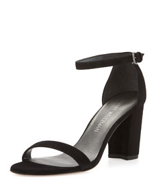 Nearlynude Suede City Sandals by Stuart Weitzman