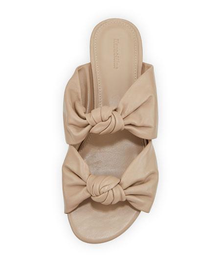 Isabelle Knotted Leather Slide Sandals