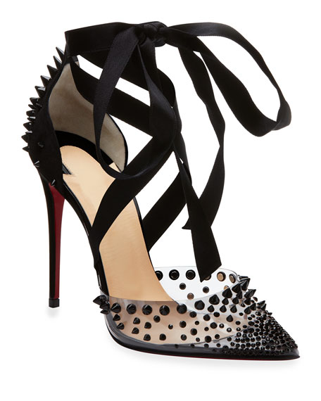Christian Louboutin Mechante Reine Spikes Red Sole Pumps