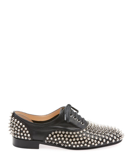 Freddy Spikes Red Sole Saddle Oxford Shoes