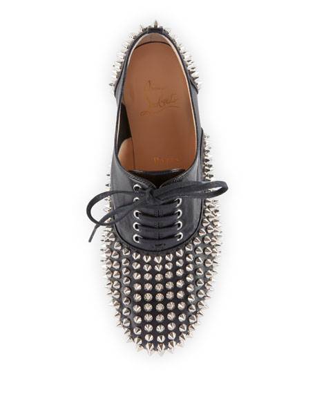 d17d3ec15d5 Christian Louboutin Freddy Spikes Red Sole Saddle Oxford Shoes