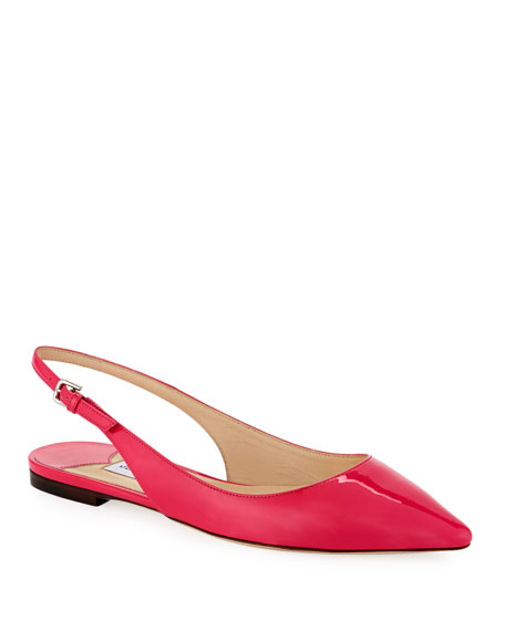Erin Patent Leather Slingback Flats