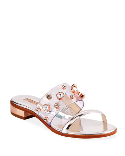 Dina Gem Flat Sandals