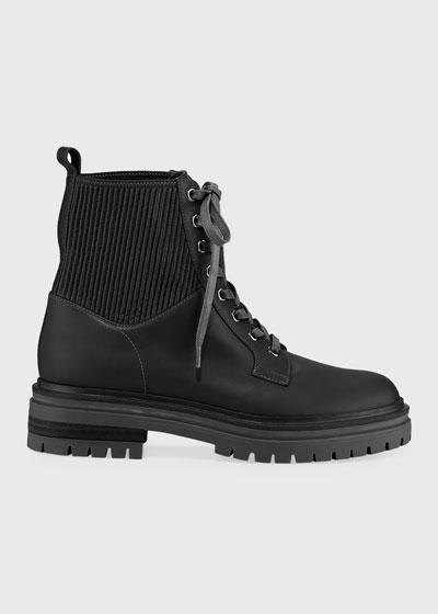 Calf Eco Combat Boots
