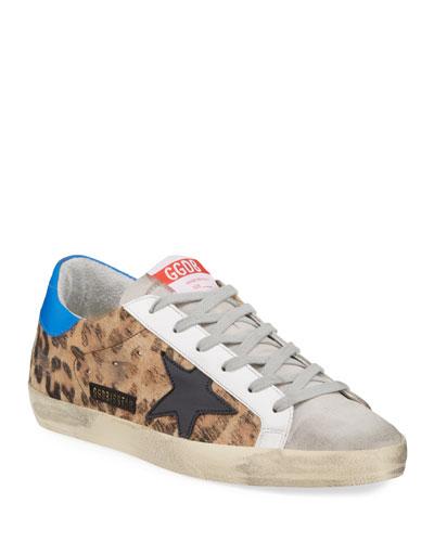 Superstar Leopard-Print Low-Top Sneakers