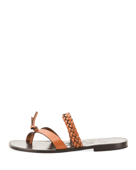 x Paula's Ibiza Braided Flat Sandals