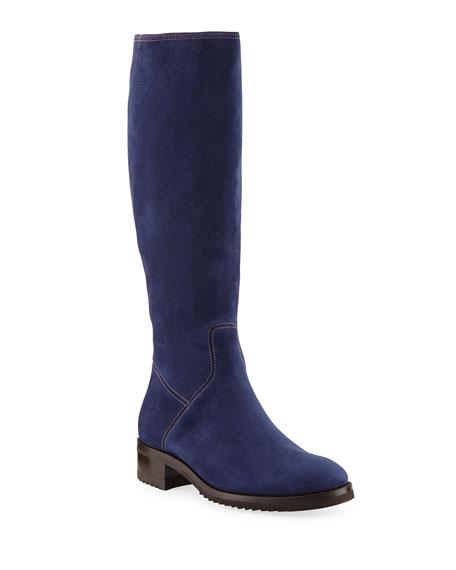 2b26852f8f1 Manolo Blahnik Pascaputre Suede Knee-High Boot