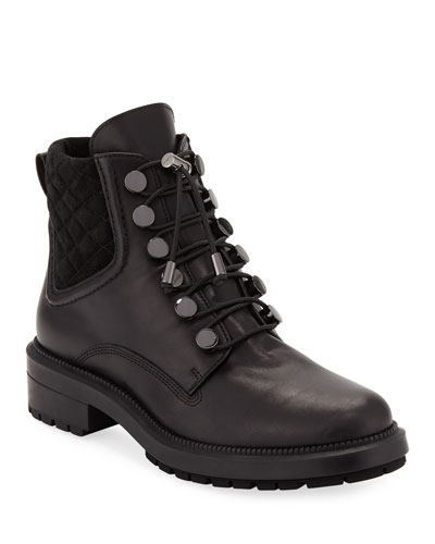 Linda Leather Combat Boot