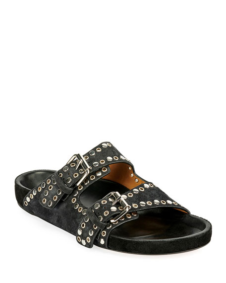 Lennyo Leather Slide Sandals