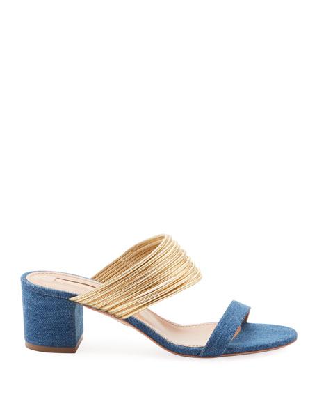 Rendez Vou Strappy Denim Sandals