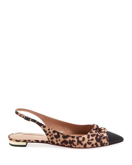 Mondaine Slingback Ballet Flats, Leopard