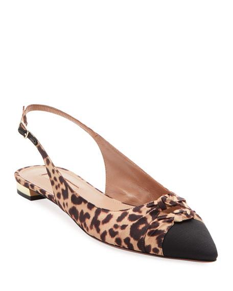 Aquazzura Mondaine Slingback Ballet Flats, Leopard