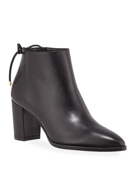 Gardiner Leather Block Heel Ankle Booties by Stuart Weitzman