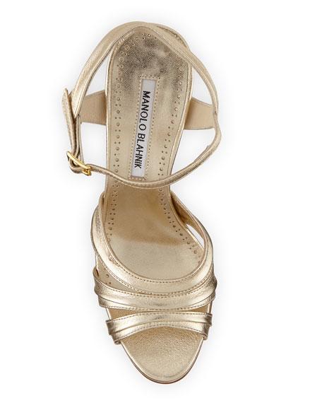 Gazo Metallic Leather 105mm Sandals