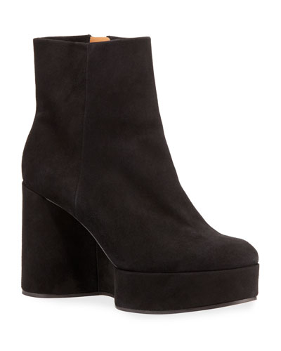 Belen Curvy Wedge Suede Booties