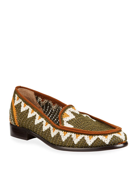 Blakie Sol Woven Loafers, Olive