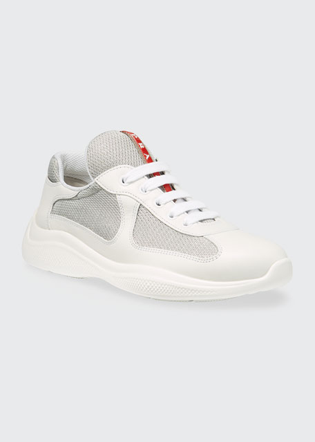 Barca Leather and Mesh Sneakers
